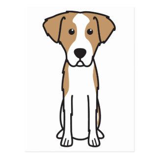 Istrian Drahthaar-Jagdhund-HundeCartoon Postkarte