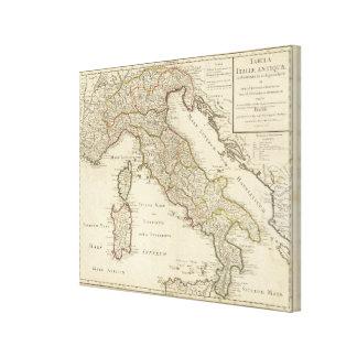 Italien 20 leinwanddruck