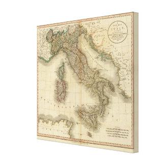 Italien-Atlas-Karte Galerie Faltleinwand