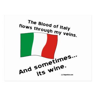 Italien-Blut-Wein Postkarte