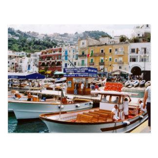 Italien,    Boot Terminus, Capri Postkarte