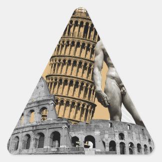 Italien, die große Schönheit Dreieckiger Aufkleber
