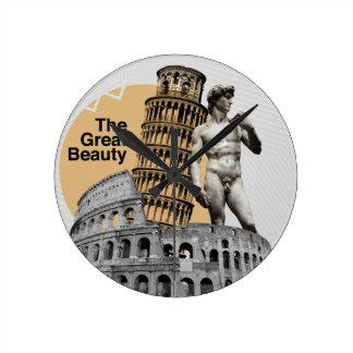Italien, die große Schönheit Runde Wanduhr