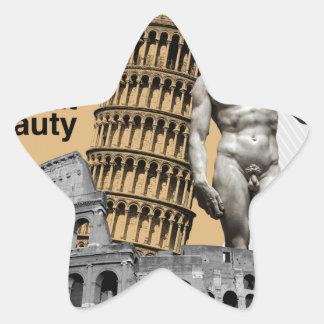 Italien, die große Schönheit Stern-Aufkleber