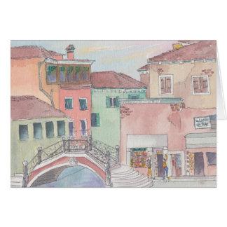 """Italien-/Einkaufs"" Aquarell-Skizze-Gruß-Karte Karte"