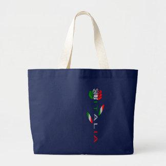 Italien-Flaggen-Rose Jumbo Stoffbeutel