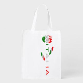 Italien-Flaggen-Rose Wiederverwendbare Einkaufstasche