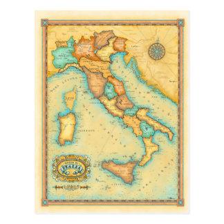 Italien-Karte Postkarte