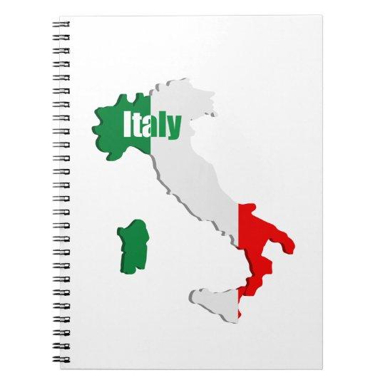 Italien-Karte Spiral Notizblock