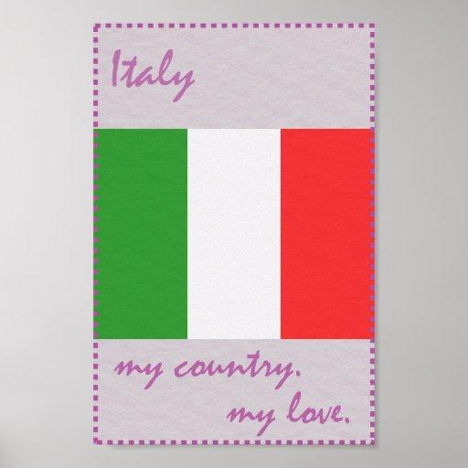 Italien mein Land meine Liebe Poster