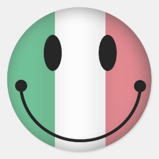 Italien-smiley Runder Aufkleber