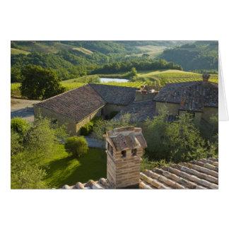 Italien, Toskana. Roofop Ansicht des Landhauses Karte