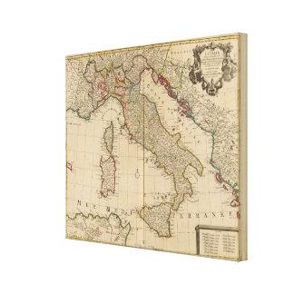 Italien und Slowenien 2 Gespannter Galeriedruck