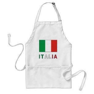 Italienflagge u. -wort schürze