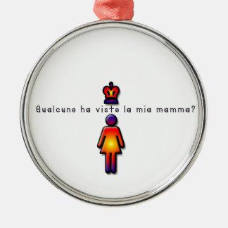 Italienisch-Mama Silbernes Ornament