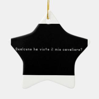 Italienisch-Ritter Keramik Ornament