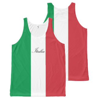Italienische Flagge - Flagge von Italien - Italien Komplett Bedrucktes Tanktop