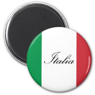 Italienische Flagge - Flagge von Italien - Italien Runder Magnet 5,1 Cm