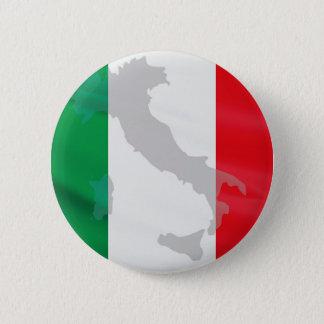 italienische Flagge und Italien Runder Button 5,1 Cm