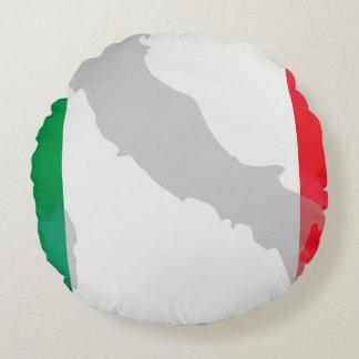 italienische Flagge und Italien Rundes Kissen