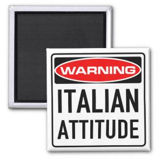 Italienische Haltungs-lustiges warnendes Quadratischer Magnet