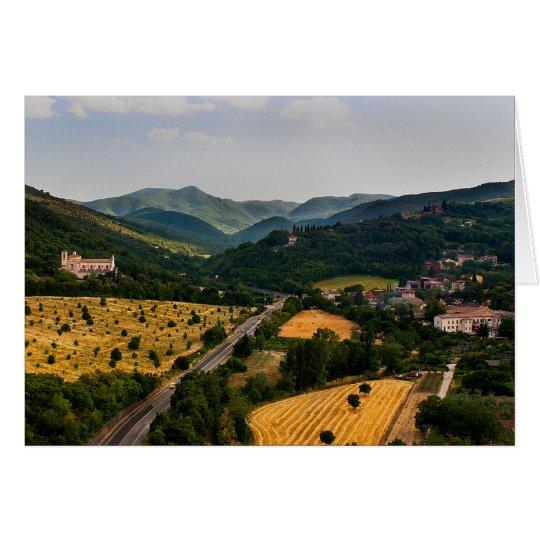 Italienische Landschaft - Spoleto Italien Grußkarte