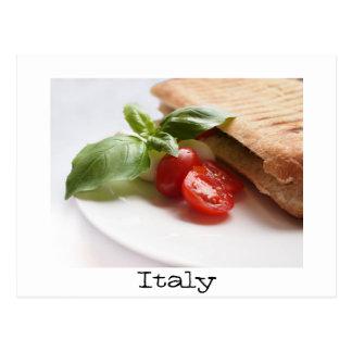Italienische Nahrungsmitteltextpostkarte Postkarte
