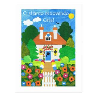 Italienische neue Adressen-Mitteilungs-Postkarte