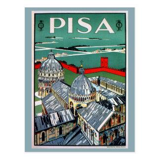 Italienische Reise Vintage Zwanzigerjahre Pisas Postkarten