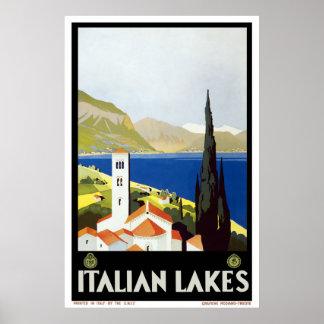 Italienische See- Vintages Reise-Plakat