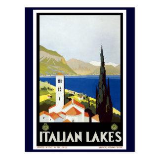 """Italienische See-"" Vintages Reise-Plakat Postkarte"