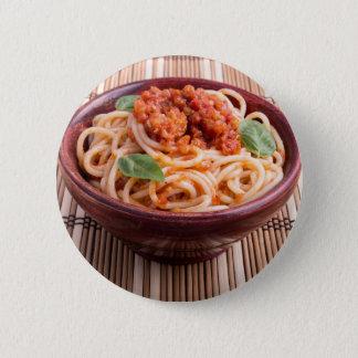 Italienische Spaghettis mit Tomategeschmack und Runder Button 5,1 Cm