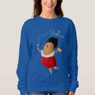 Italienische Teigwaren-Dame Sweatshirt