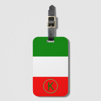 Italienischer Flaggen-Entwurf Italiens mit Ihren Kofferanhänger