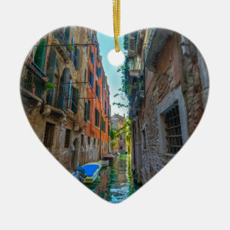 Italienischer Fluss Keramik Herz-Ornament
