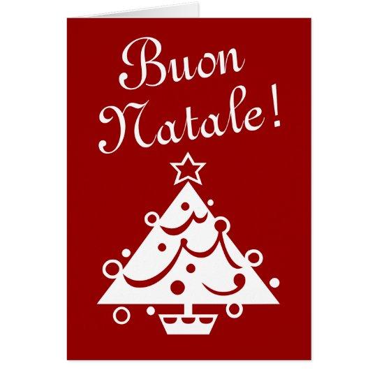 Italienischer Gruß der Buon Natale Weihnachtskarte Karte