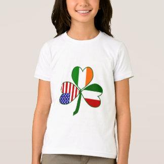 Italienischer Kleeblatt-Grün-Hintergrund T-Shirt