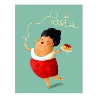 Italienischer Spaghetti-Teigwaren-Liebhaber Postkarte