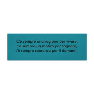 italienischer Spruch Sprüche Leinwanddruck