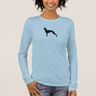 Italienischer Windhund-Silhouette Langärmeliges T-Shirt