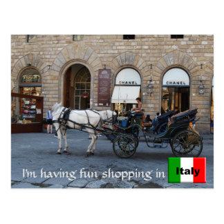 Italienisches Einkaufen modernes Florenz Italien Postkarte