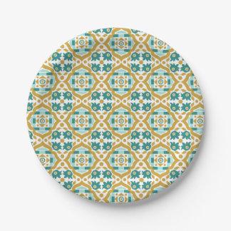Italienisches klassisches nahtloses Muster des Pappteller 17,8 Cm