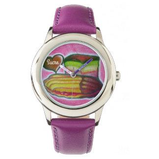 italienisches Plätzchen Sucres und Armbanduhr
