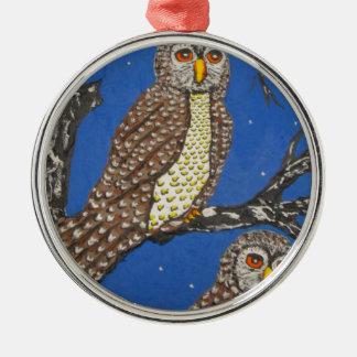 IThe Beobachter des NightMG_0248.JPG Rundes Silberfarbenes Ornament