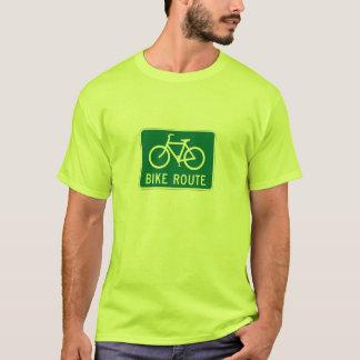 Itinéraire de vélo t-shirt