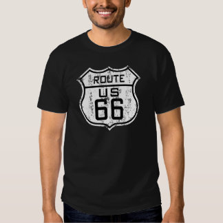 Itinéraire vintage 66 - conception affligée tee-shirt