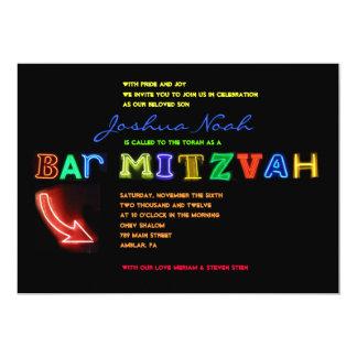 ITIS ELEKTRISCH!  NEONzeichen Bar Mitzvah Karte