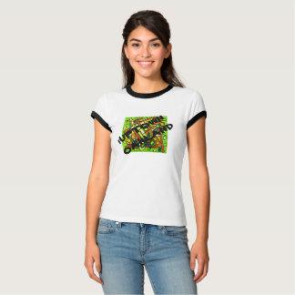 iUptown Oakland-Damen-schwarzes Ordnungs-T-Stück T-Shirt