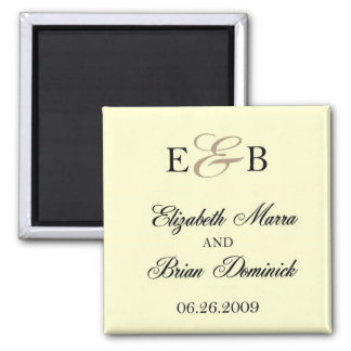 ivoire d'Elizabeth et de Brian Magnets Pour Réfrigérateur