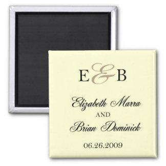 ivoire d'Elizabeth et de Brian Magnet Carré
